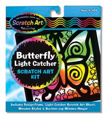"MD5885 Scratch Magic Butterfly Light Catcher Fun Kit (Царапка-витраж ""Бабочка"")"