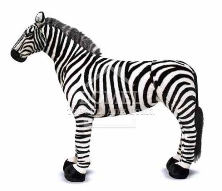 MD2184 Zebra - Plush (Гигантская плюшевая Зебра, 1 м)