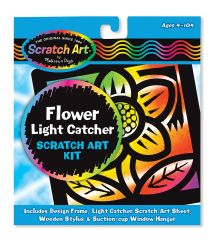 "MD5888 Scratch Magic Flower Light Catcher Fun Kit (Царапка-витраж ""Цветок"")"