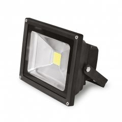 EUROELECTRIC LED Прожектор COB черный 30W 6500K classic, 30W, IP65, 6500K, 2400Lm