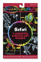 "MD5916 Safari Scratch Art Boards (Набор царапок ""Сафари"")"