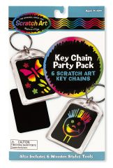 MD5921 Key Chain Scratch Art Party Pack (Набор брелоков с царапками)